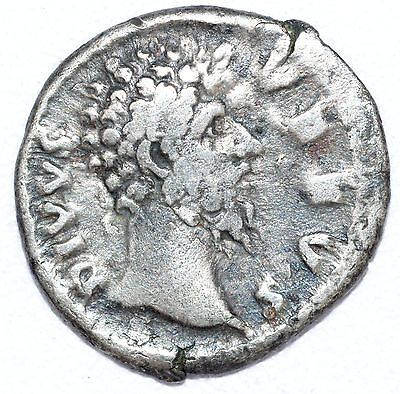 AUTHENTIC LUCIUS VERUS - ROMAN COIN Silver Denarius RV. EAGLE CONSECRATIO - A783