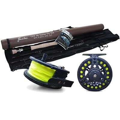 Flextec Carbon Fibre Fly Fishing Rod 9' # 6/7 with Fly Reel and Floating Line