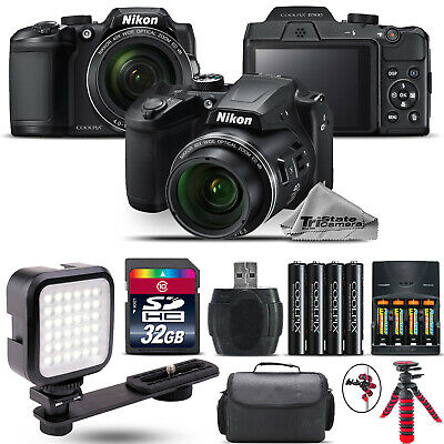 Nikon COOLPIX B500 Digital Camera 40x Optical Zoom + LED + Case -32GB Kit Bundle