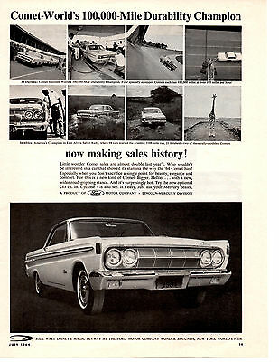 1964 Mercury Comet / Optional Cyclone 289 V-8  ~  Original Muscle Car Ad
