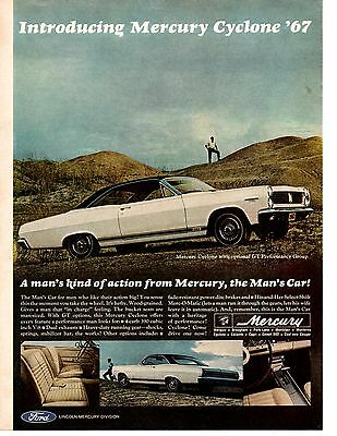 1967 Mercury Cyclone Gt 390 ~ Original Muscle Car Ad