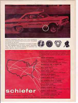 1964 Mercury Comet Drag Racing - Sachs & Sons  ~  Rare Schiefer Ad