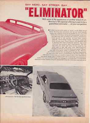 1969 Mercury Cougar Eliminator 428/335Hp  ~  Nice 2-Page Original Article / Ad