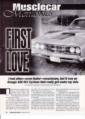 1969 Mercury Cyclone 428 Scj  ~  Nice 2-Page Article / Ad