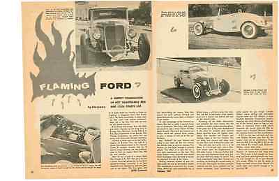 1934 Ford Convertible Hot Rod  ~  Nice 2-Page 1957 Article