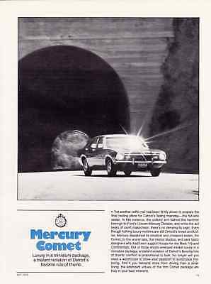 1972 Mercury Comet ~ Nice 5-Pg Road Test / Article / Ad