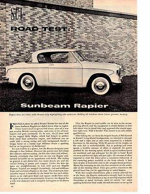 1957 Sunbeam Rapier ~ Original 6-Page Road Test / Article / Ad