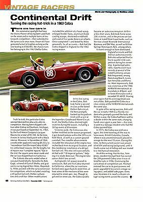 1963 Shelby Cobra  ~  Great Vintage Racer Article / Ad