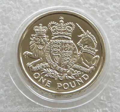 2015 Royal Mint Royal Arms BU £1 One Pound Coin Uncirculated