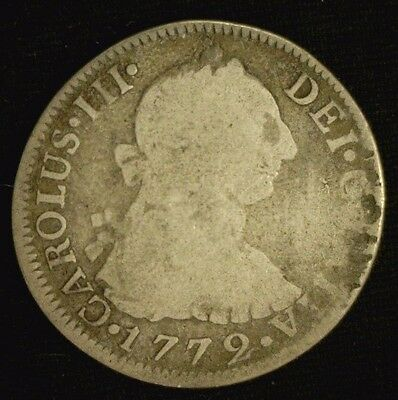 1772 Fm Mexico Silver 2 Reales Nice      (3307)