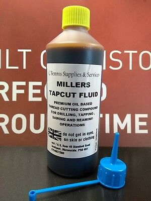 MILLERS TAPCUT CUTTING  FLUID FOR TAPPING, DRILLING, REAMING, SAWING 500ml