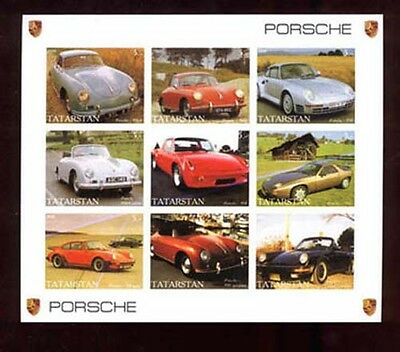 008732 Automobiles set of 9 stamps TATARSTAN IMPERF