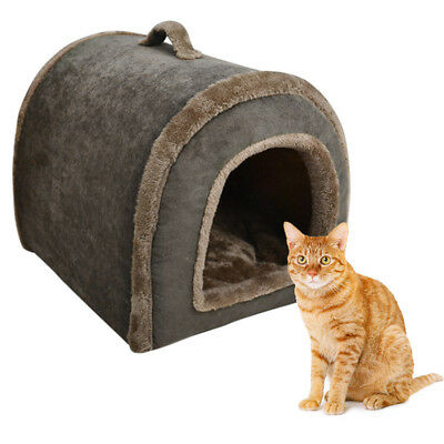 New Pet House Outdoor Corduroy Kennel Comfort Thermal Nesting Cave Dog Sleep Bed