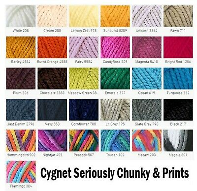 Cygnet Seriously Chunky, Seriously Chunky Prints, Mixes Yarns BUY 10 GET 10% OFF