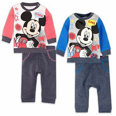 Disney Mickey Mouse Baby Babies Boys Outfit Set Jumper Top Trousers 3-24 Months