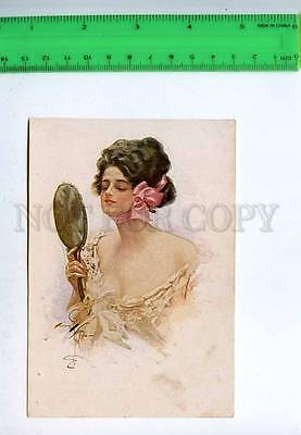 202170 BELLE w/ Mirror by Harrison FISHER russian without back