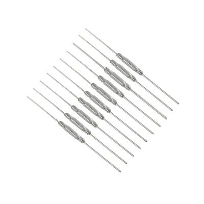 10x Pcs REED SWITCH 2X14MM GLASS  Normally Open N/O Low Voltage Current