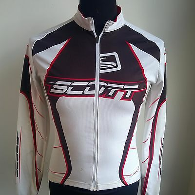 White Thermal Cycling Shirt L/s Scott Jersey Size Adult S