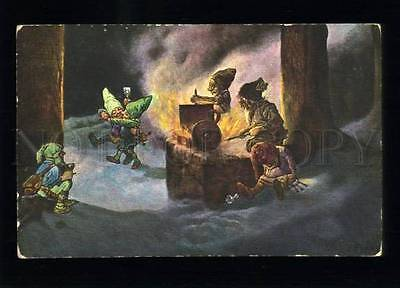134366 GNOME Winter Dance FIRE by FROMME vintage TSN PC