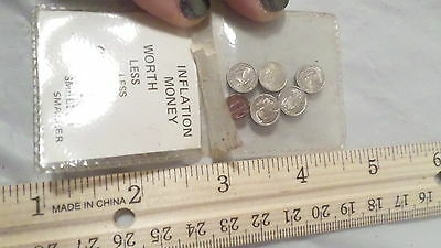 Lot of Vintage Inflation Money Coins ~ Small Novelty Coins