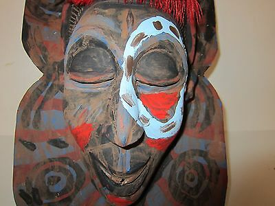 Antique Ivory Coast West Africa Tribal MASK Authentic Museum Quality