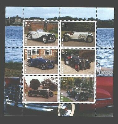 030773 OLD CAR set of 6 stamps KOMI 2003 MNH#30773
