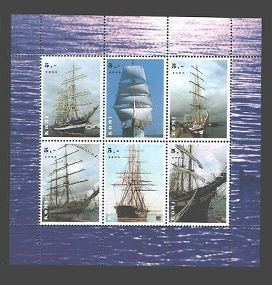 030774 SAILBOATS KOMI 2003 set of 6 stamps MNH#30774