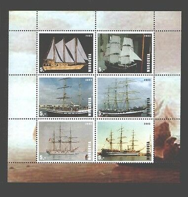 030776 SAILBOATS MORDOVIA 2003 set of 6 stamps MNH#30776