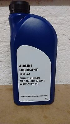 Premium Airline Oil Air Tool Lubricant 1 Litre 1L BRITISH MADE Millers Oils