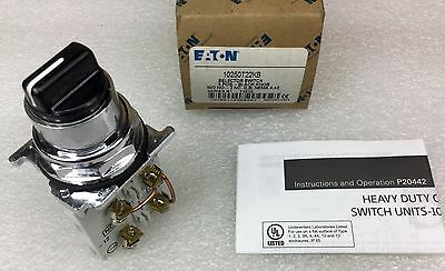 Cutler Hammer 10250T-22Kb 3-Pos Selector Switch 2 N.o. 2 N.c. Contact New In Box