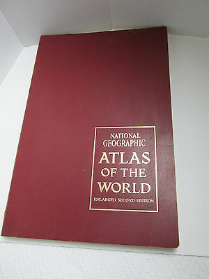 National Geographic Atlas of the World 1966 Enlarged Second Edition