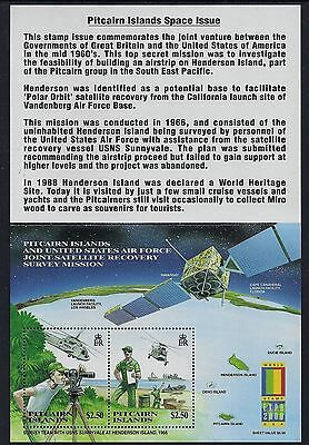 2000 Pitcairn Island Satellite Recovery/Stamp Expo Minisheet Fine Mint Mnh/Muh