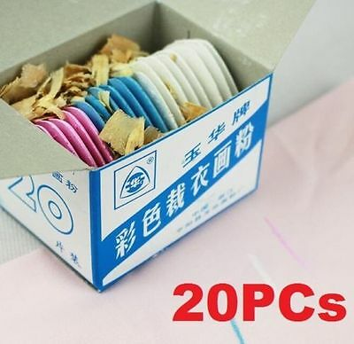 20PCs Assorted Tailor's Fabric Chalk Dressmaker's Pattern Marking Chalk Sewing ☆