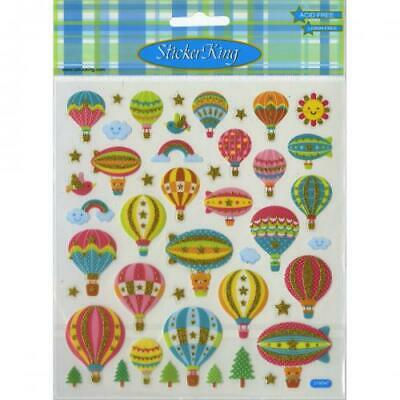 Tattoo King SK129MC-4527 Multicolored Sticker, Hot Air Balloons