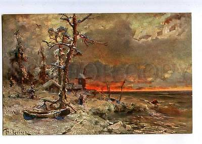 224533 RUSSIA KLEVER before storm Richard #776 old postcard