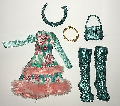 Ever After High Epic Winter Ashlynn Ella Doll Outfit Clothes Dress & Shoes NEW