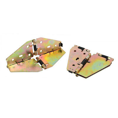 Table Butterfly Shape Spring Loaded Folding Leaf Hinge Support Brass Tone 2pcs
