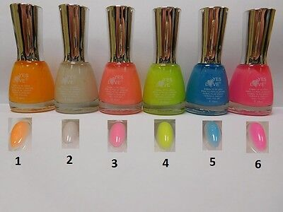 Vernis A Ongles Fluo Orange - BRILLE DANS LE NOIR - YES LOVE 15 ml - Port 0€ 486