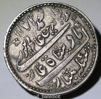 India - 1807 Half Rupee (ah1172)  Madras Mint Silver Coin