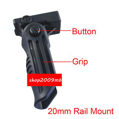 Hand Vertical Fore Grip Folding Foregrip Picatinny Weaver Rail 20mm For Airsoft