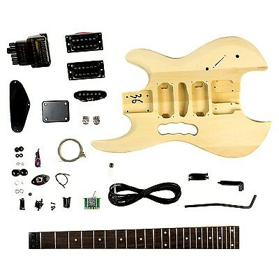 Headless Body Style - DIY Unfinished Project Luthier Electric Guitar Kit!