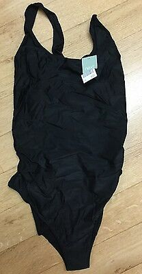 Next Size 16 Black Maternity Swimming Costume Bnwt