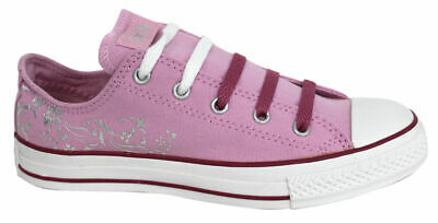 Converse All Star Glitz Foil Ox Kids Youths Canvas Lace Up Trainers 300581F D70