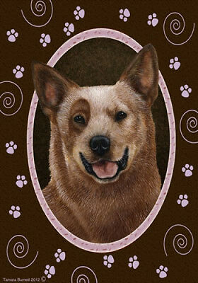 Large Indoor/Outdoor Paws Flag - Red Australian Cattle Dog 17281