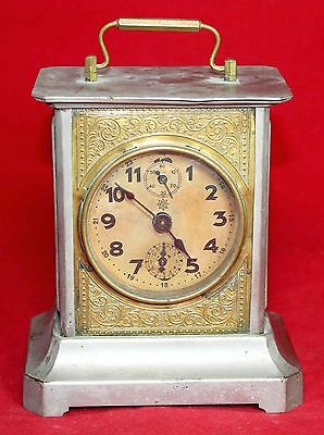 Junghans Musical Carriage Desk Alarm Clock - Working - Vintage