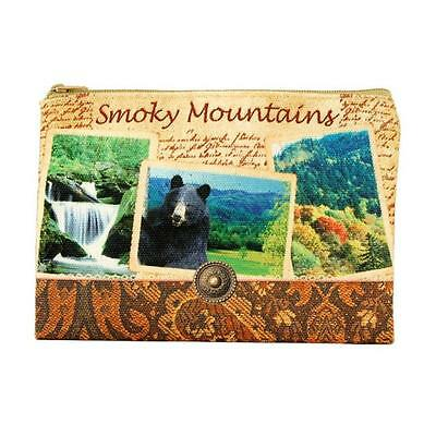 Americaware ZPSMT01 Smoky Mountains Vintage Print Zip Pouch