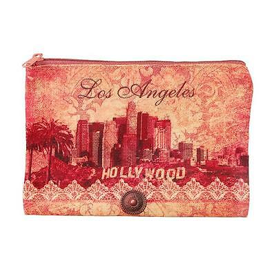 Americaware ZPLAC01 Los Angeles Rose Skyline Zip Pouch