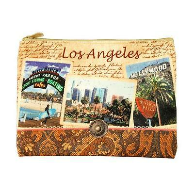 Americaware ZPLAC02 Los Angeles Vintage Print Zip Pouch