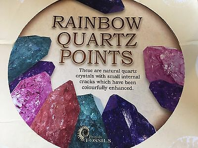 UK Seller Rainbow Quartz Large Points - 5 colors to pick from