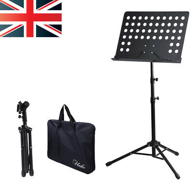 Adjustable Music Metal Stand Holder Folding Foldable With Waterproof Carry Bag